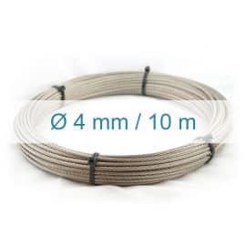 Câble inox 4mm - 10m