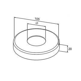 Cache platine 105mm - Inox 316