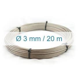 Câble inox 3mm - 20m
