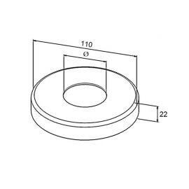 Cache platine 110mm - Inox 316