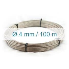 Câble inox 4mm - 100m