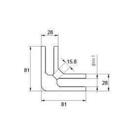 Adaptateur M22 - Inox 316 - 90°