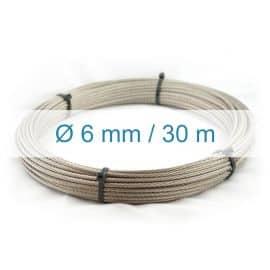 Câble inox 6mm - 30m