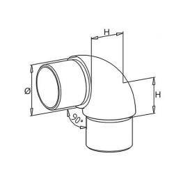 Coude grand rayon inox 316 poli - 42mm