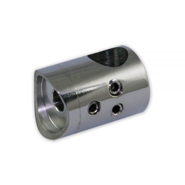 Support de barre Inox 316 Poli - 2 vis - 42mm
