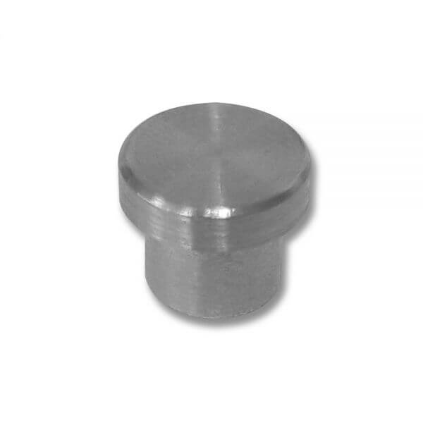 Embout Inox 304 à coller - Plat - 12mm