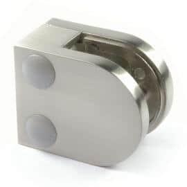 Pince à verre M20 - Fond plat - Zamac aspect inox
