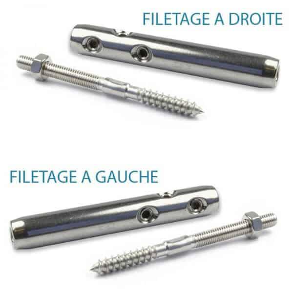 Pack tendeurs ECO + vis bois câble 3-4 mm