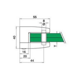 Pince à verre M24 - Inox 304 - Fond plat