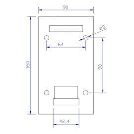 Platine latérale Inox 304 -160x90mm