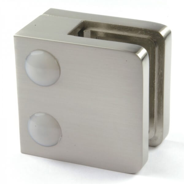 Pince à verre M21 - Zamac aspect inox - Fond plat