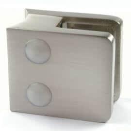 Pince à verre Zamac M21 - Aspect inox - Ø 42 mm