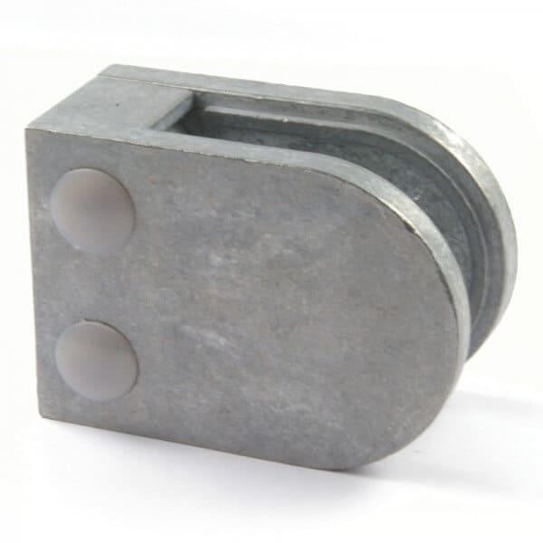 Pince à verre M22 - Zamac brut - Fond plat