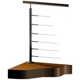 Poteau Inox 316 - 6 câbles - Départ