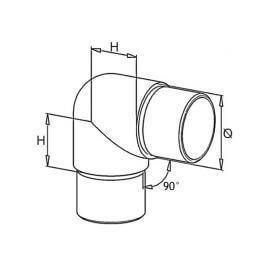 Coude Inox 304 petit rayon - 42mm