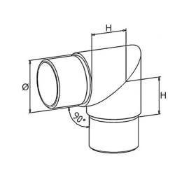 Coude angle vif - 42,4 - Inox 316