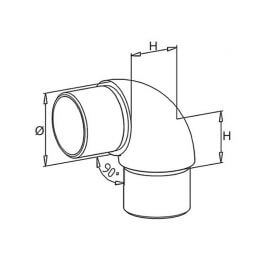 Coude grand rayon - 42,4 - Inox 304