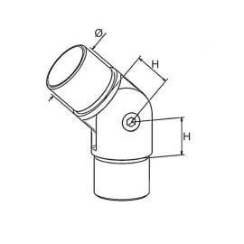 Raccord orientable - 42,4 - Inox 304