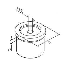Adaptateur tube/plat - Inox 304