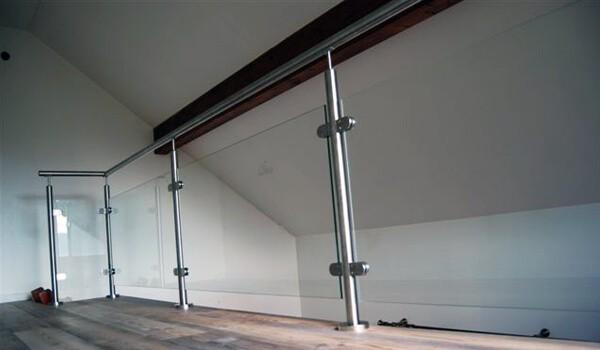 balustrade inox fixation francaise sur mezzanine