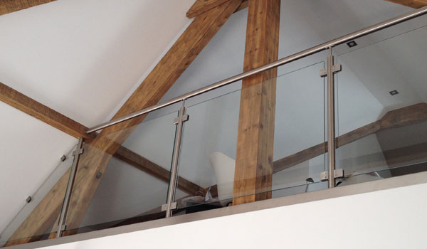 balustrade verre pour mezzanine interieure