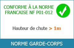 Normes garde-corps
